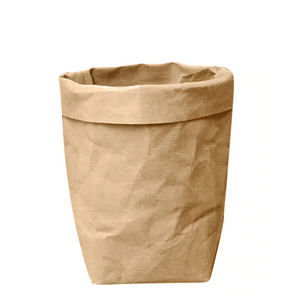 Classic Greensy Washable Paper Bag - Brown - TheGreensy
