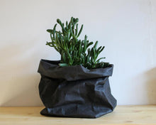 Load image into Gallery viewer, Classic Greensy Washable Paper Bag - Black - TheGreensy