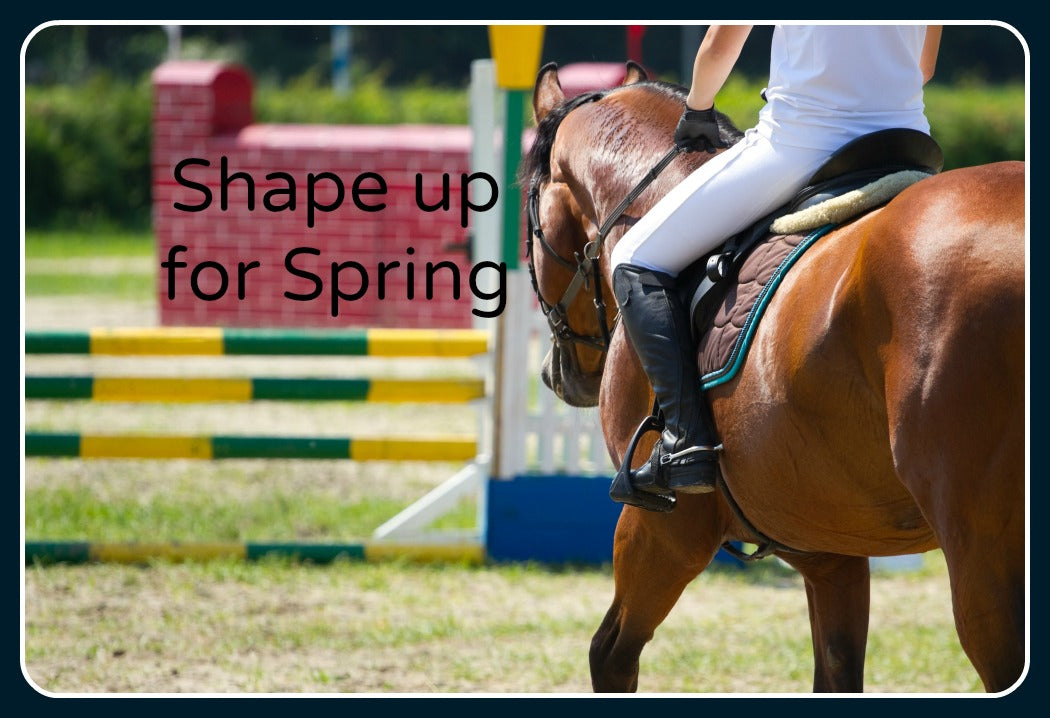 Shape Up For Spring.  Preparing your horse for show season