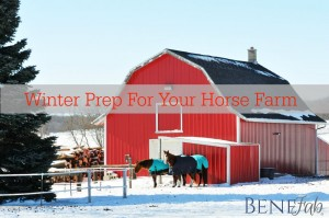 Winter Prep For Your Horse Farm