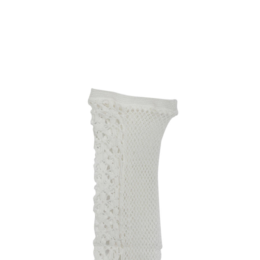 DS-51 White Knitted Socks