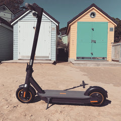 Ninebot Max G30 Electric Scooter at the Beach - Scooter Hub