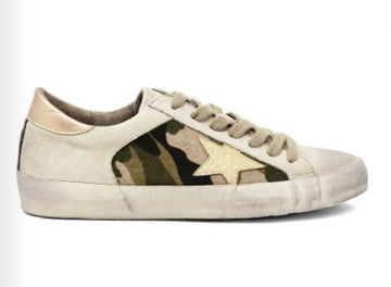 Camo Ginny Girl Tennis Shoes