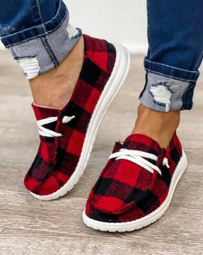 Red Buffalo Check Gypsy Shoes