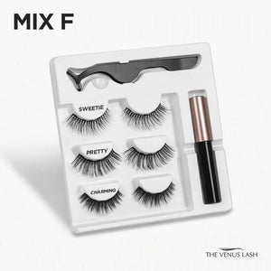The Venus Lash Magnetic Eyelash & Eyeliner Kit (3 Pairs)