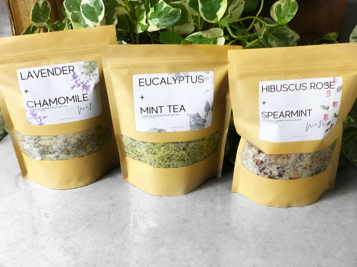 GARDEN BOTANICAL BATH SOAK COLLECTION (3-20oz BAGS)