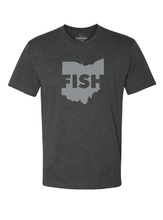 Load image into Gallery viewer, FISH Ohio T Shirt - Charcoal