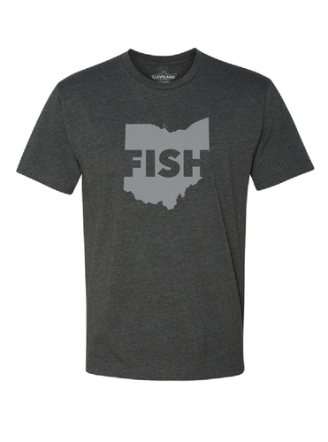 FISH Ohio T Shirt - Charcoal