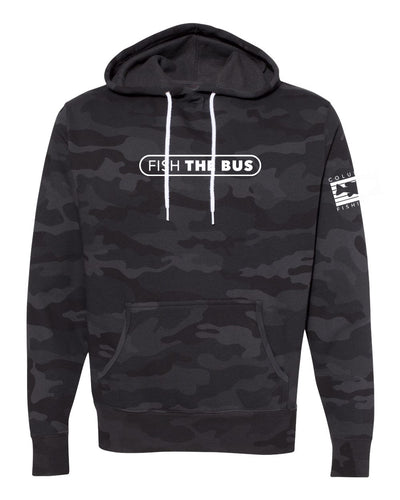 Columbus - Fish The Bus - Black Camo Hoodie
