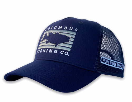 Columbus - Fish Rectangle Hat - Navy