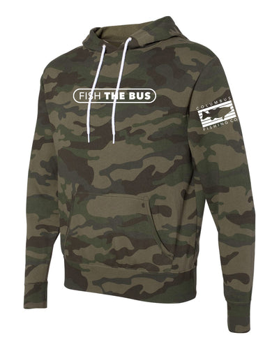 Columbus - Fish The Bus - Green Camo Hoodie