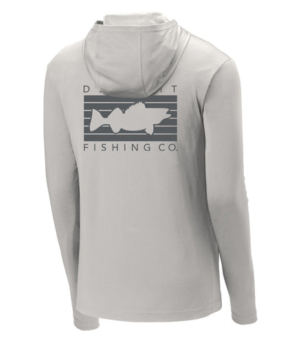 Detroit Performance Sun Hoodie - Silver