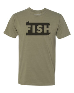 FISH Pennsylvania T Shirt - Olive Green