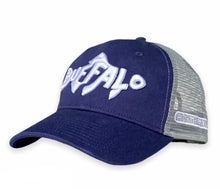 Load image into Gallery viewer, Buffalo Fish - Unstructured trucker hat - Navy / Grey