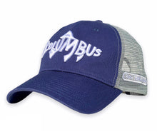 Load image into Gallery viewer, Columbus Fish - Unstructured Trucker - Navy / Grey