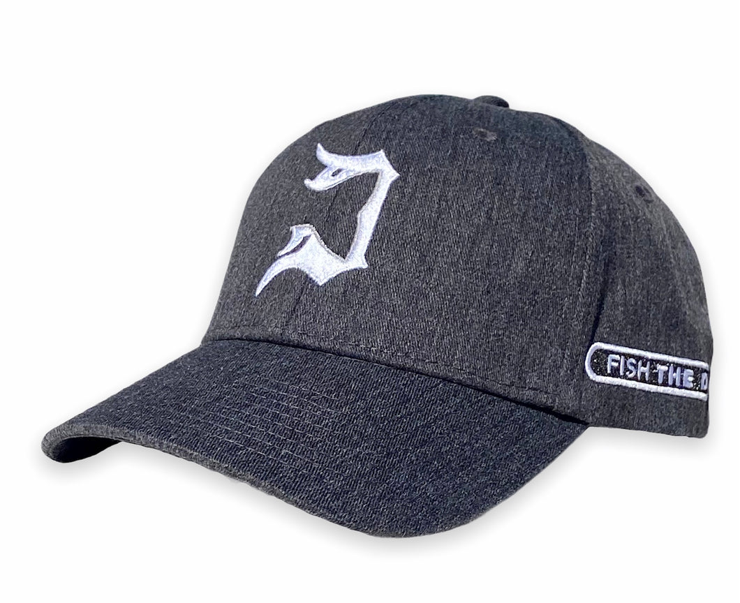 Detroit - Fishtail D Hat - Dark Heather