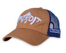 Load image into Gallery viewer, Detroit Fish - Unstructured Trucker Hat - Latte / Navy