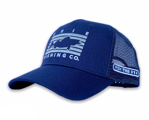 Erie - Fish Rectangle Hat - Navy