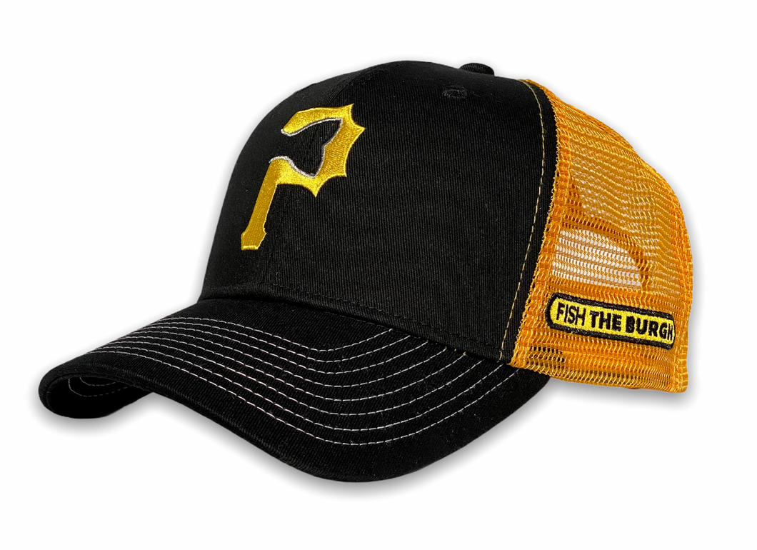Pittsburgh - Fishtail P Hat - Black / Yellow
