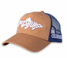 Load image into Gallery viewer, Pittsburgh Fish - Unstructured Trucker - Latte / Navy