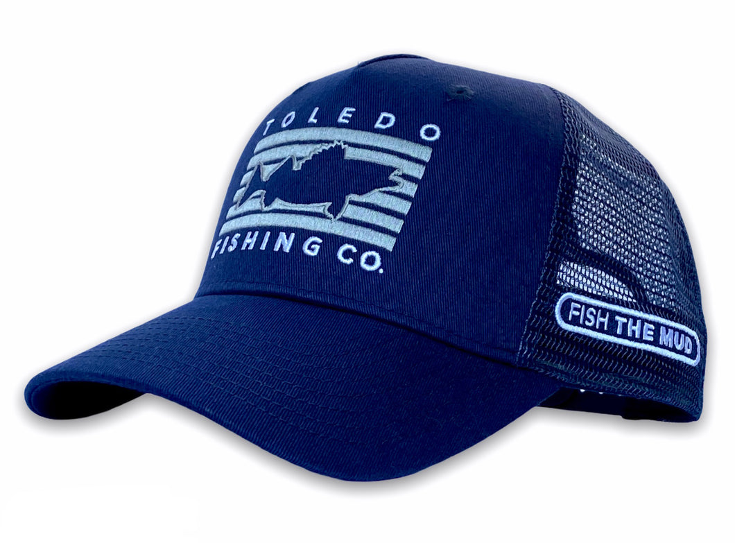 Toledo - Fish Rectangle Hat - Navy