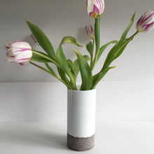 Load image into Gallery viewer, White glass vase