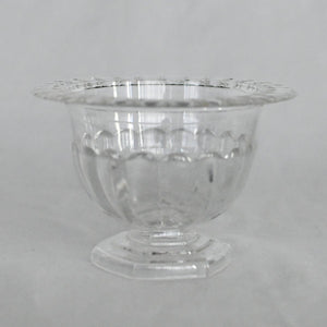 Red Fox Floral Clear Footed Compote