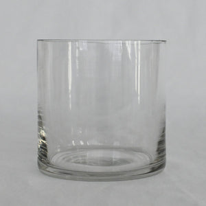 Red Fox Floral Clear Glass Vase