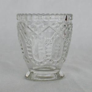 Red Fox Floral Etched Glass Vase