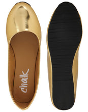 Load image into Gallery viewer, Lustre: Ingot Gold Ballet Flats