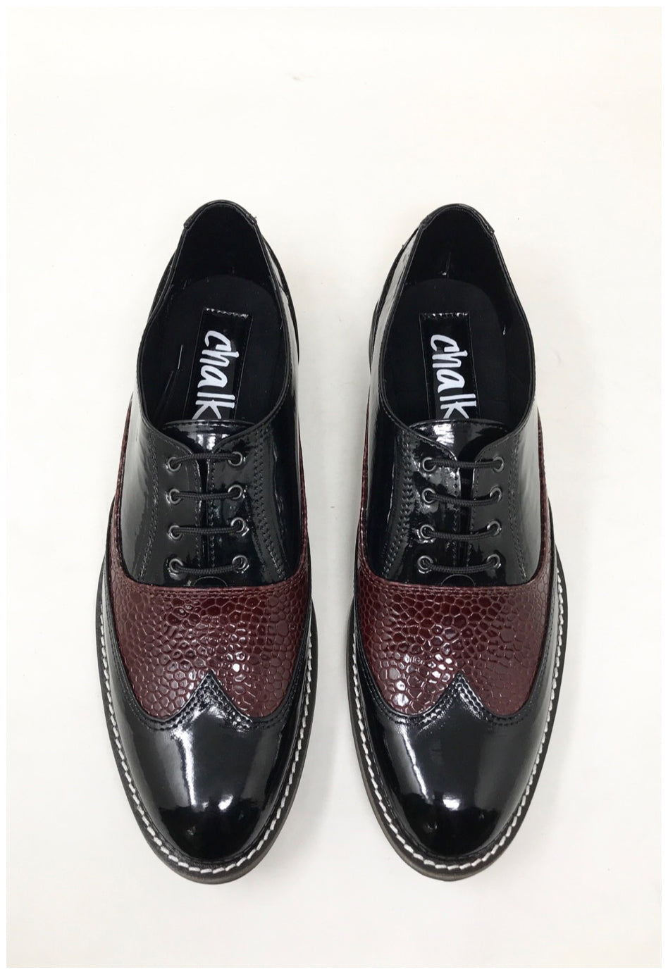 Burgundy Mamba Brogues