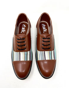 Tan Stripe Brogues