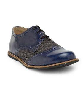 Blue Tweed - Oxfords