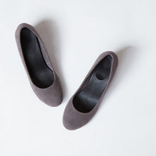 Load image into Gallery viewer, Grey Velvet Block Heels