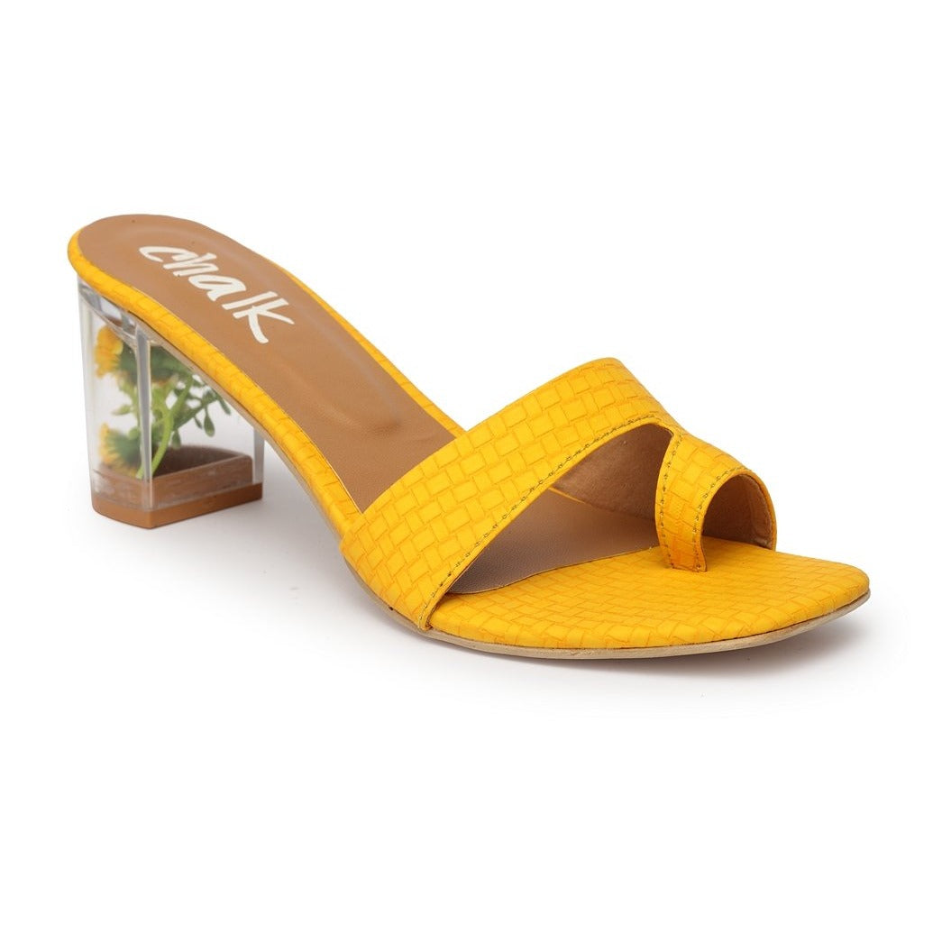 Tyche Yellow Flora - See Through Heel