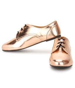 Metallique - Rose Gold - Oxford Lace Ups
