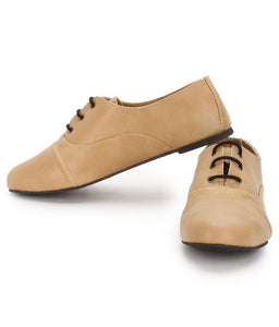 Turpento - Beige - Oxford Lace Ups