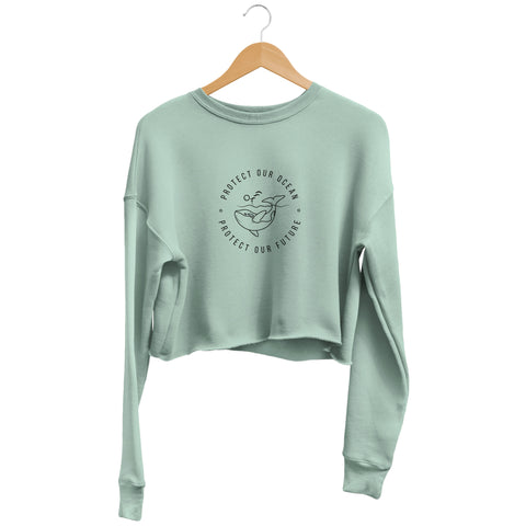 Protect our Ocean - Cropped Sweatshirt