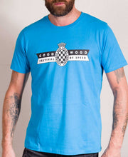 Load image into Gallery viewer, Festival of Speed Racing Colours T-Shirt Blue and Orange Men's