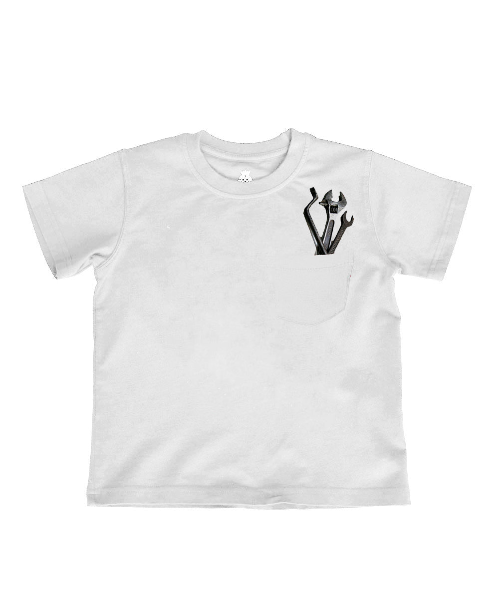 Children's White Spanner T-Shirt
