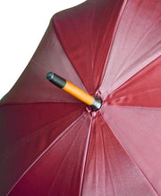 Load image into Gallery viewer, Goodwood Estate Burgundy Umbrella with Wooden Handle Detail