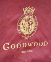 Load image into Gallery viewer, Goodwood Estate Burgundy Umbrella with Wooden Handle Logo