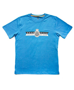 Festival of Speed Racing Colours T-Shirt Blue and Orange Men's
