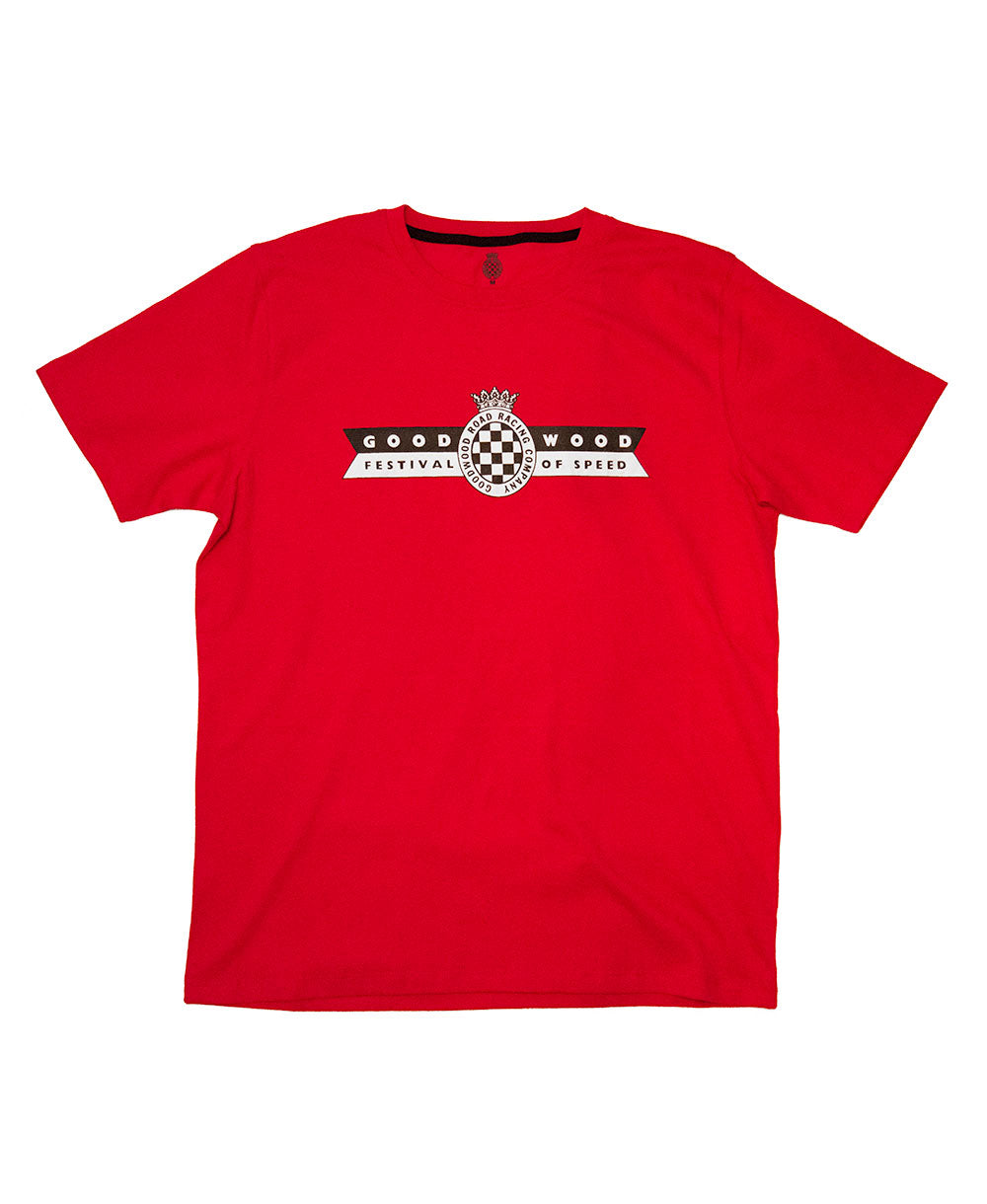 Festival of Speed Racing Colours T-Shirt Red and Black Men's Front