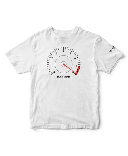 Mens White Cotton Speed Dial Festival of Speed T-Shirt