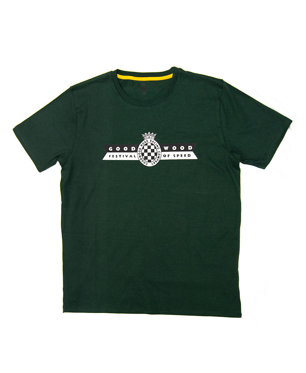 Festival of Speed Racing Colours T-Shirt Green and Yellow Men's