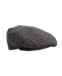 Flat Cap Grey and Red