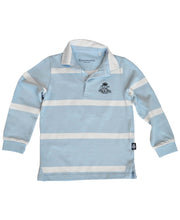 Load image into Gallery viewer, Goodwood 78th Members Meeting Cotton Childrens Blue White Rugby Shirt