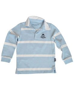 Goodwood 78th Members Meeting Cotton Childrens Blue White Rugby Shirt