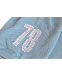 Goodwood 78th Members Meeting Cotton Childrens Light Blue White Polo Shirt Arm